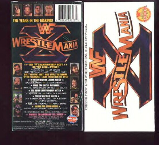 WWF WrestleMania 10 COLISEUM Video SEALED WWE Bret Hart WWF WCW ECW TNA WWE