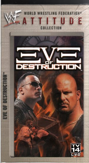 WWF Eve of Destruction Video SEALED WWE Mankind Hell In A Cell  WWF WCW ECW TNA WWE