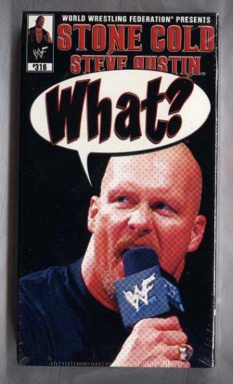 WWF Stone Cold Steve Austin What? Video SEALED 2002 WWE WWF WCW ECW TNA WWE