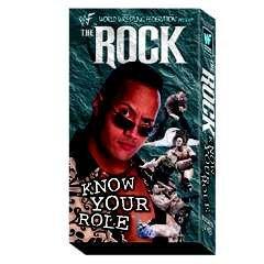 WWF Rock Know Your Role Video In Box WWE 1998-1999 WWF WCW ECW TNA WWE