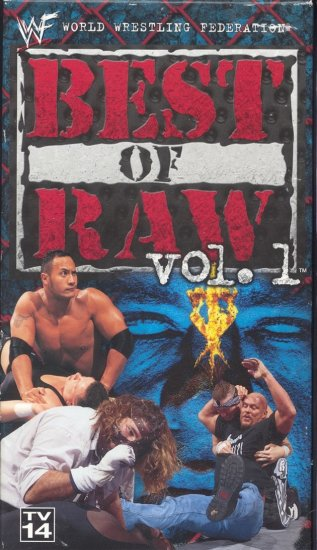 WWF Best of Raw Vol. 1 1997-1998 Video In Box WWE DX Stone Cold Rock WWF WCW ECW TNA WWE