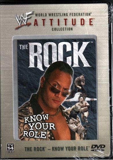 WWF The Rock Know Your Role DVD SEALED WWE Attitude Collection WWF WCW ECW TNA WWE