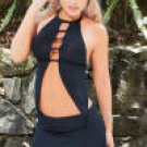 2 Piece Lycra High Neck Flashdance Top
