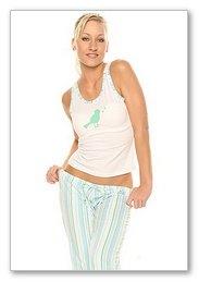 "Retro stripe "" Bird print Pajama set"