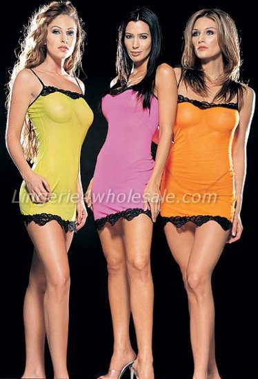 2 piece mesh chemise g-string set