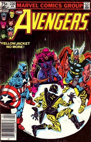 "Marvel Comics THE AVENGERS 230 Roger Stern Al Milgrom Joe Sinnott EGGHEAD ""Dies"""
