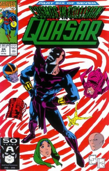 """Marvel Comics QUASAR 18 19 20 21 22 23 24 25 """"Cosmos In Collision"""" Gruenwald Capullo SPAWN artist"""