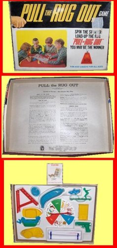 PULL schaper RUG  the OUT free sh VINTAGE complete GAME