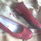 DOROTHY costume RUBY wizard 3.5 SLIPPERS of oz FREE SHIPPING shoe SHOES