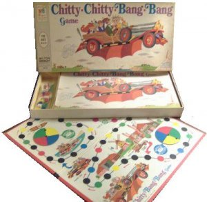 CHITTY flying car BANG dick van dyke VINTAGE board GAME