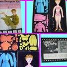 DEBBIE REYNOLDS paper doll DRESS design old COLORFORMS
