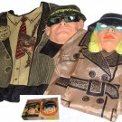 VINTAGE secret agent SPY box COUPLES mask couple COSTUME costumes LOT