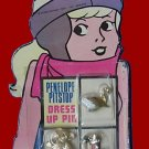 PENELOPE PITSTOP vintage BEAR playset PIN card swan SET