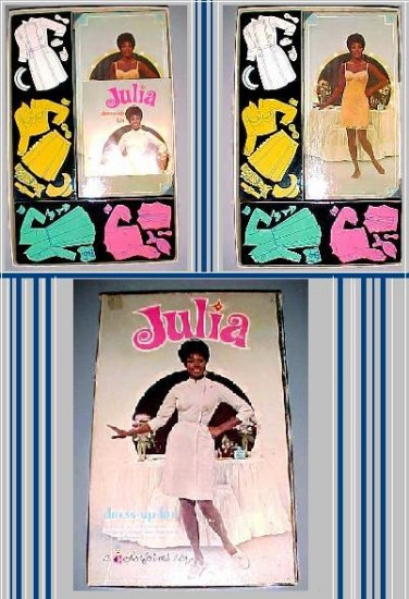 JULIA paper NURSE black doll VINTAGE playset COLORFORMS