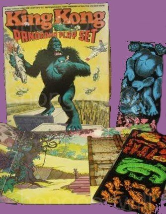 KING KONG play VINTAGE set PLAYSET game on hold toy COLORFORMS
