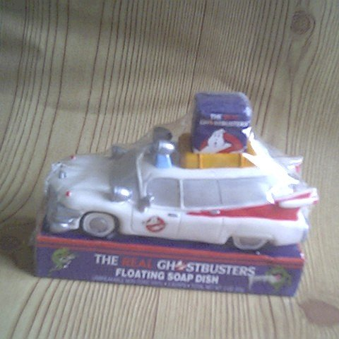 GHOSTBUSTERS Ghost busters on hold vintage SEALED floats ecto 1 one SOAP DISH