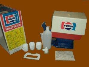PEPSI chilton TOY cola SODA cups MACHINE set DISPENSER
