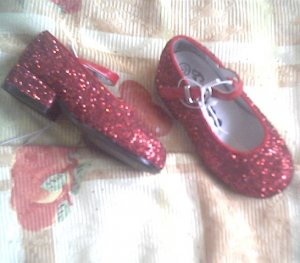 DOROTHY costume RUBY wizard 5.5 SLIPPERS of oz FREE SHIPPING shoe SHOES