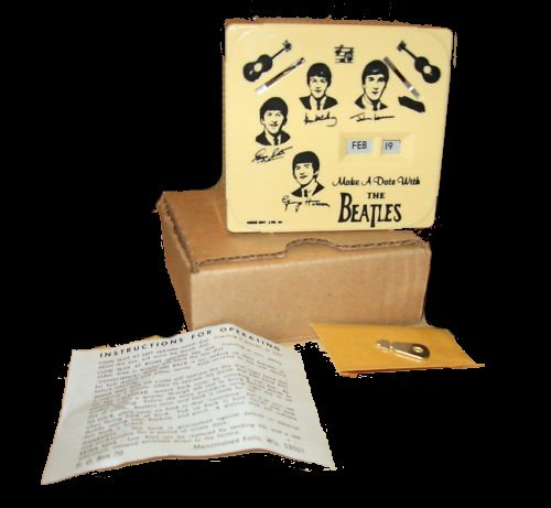 MAKE a DATE with the BEATLES calendar FANTASY repro REPRODUCTION! in BOX key BANK