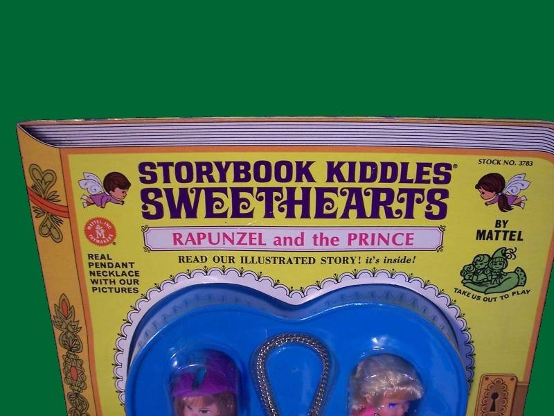 RAPUNZEL carded SWEETHEART & prince LIDDLE doll KIDDLES