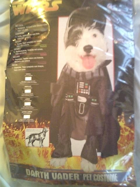DARTH VADER vadar FREE shipping ON HOLD Size xl x l EXTRA LARGE pet DOG star wars COSTUME