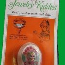 LIDDLE KIDDLES jewelry RING charm kiddle VINTAGE carded on card DOLL ish CUTIE