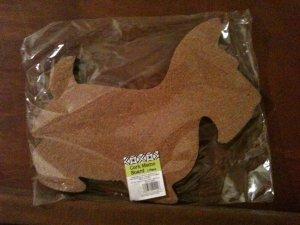 SCOTTIE scotty DOG SHAPED small ish novelty MEMO corkboard BULLETIN shabby CORK chic BOARD