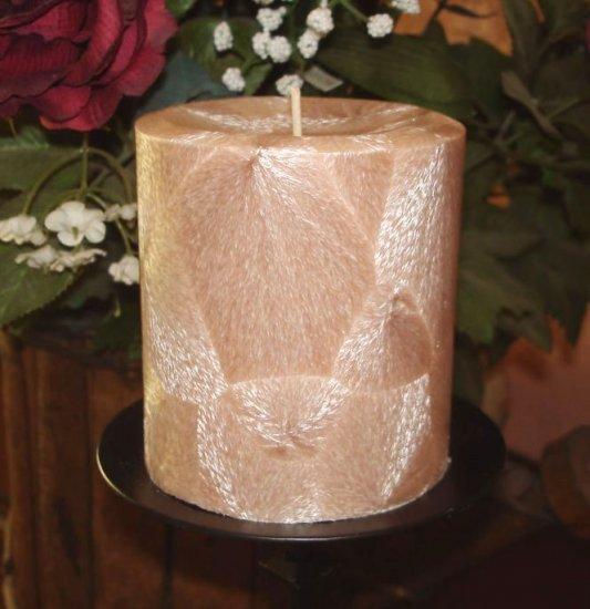Beautiful Feather Palm Wax Pillar - Your Fragrance Choice