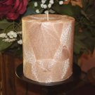 Beautiful Feather Palm Wax Pillar - Your Fragrance Choice