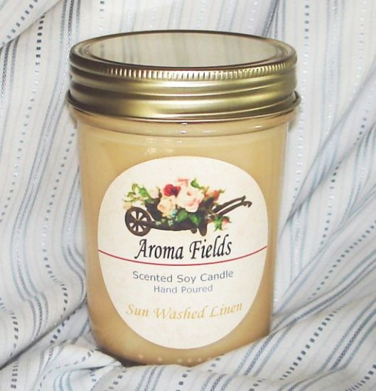 Sunwashed Linen - Highly Scented Soy Candle