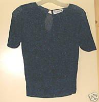 Pierre Cardin Ladies Vintage 70's Dressy Metallic Top