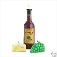 Wine, Grapes & Cheese: 3 Candle Set