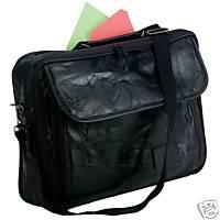 Black Hand-Sewn Pebble Grain Soft Leather Brief Case