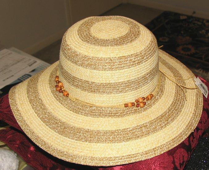 "Wide Brimmed (3 1/2"") Ladies' Natural Straw Hat"