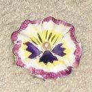 Vintage Costume Jewelry Enamel Painted Unique Flower Pin