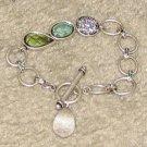 Vintage Costume Jewelry Silvertone Link Bracelet