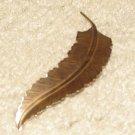 "Vintage Costume Jewelry Goldtone 3""  Leaf Pin"