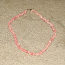 Vintage Costume Jewelry Coral Color Shell Necklace