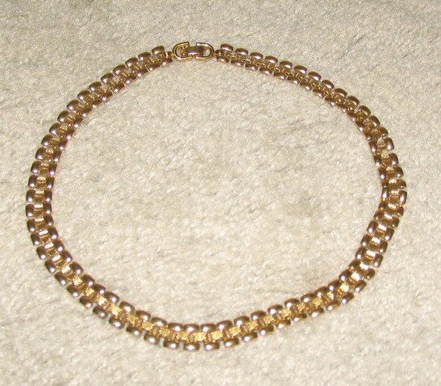 "Vintage Costume Jewelry 17"" Monet Goldtone Necklace"