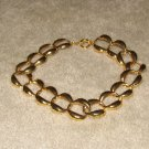 "Vintage Costume Jewelry 17"" Goldtone Large Links Necklace"