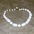 Vintage Costume JewelryWhite Bead Necklace