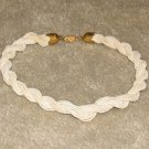 Vintage Costume Jewelry Cream Rope Choker