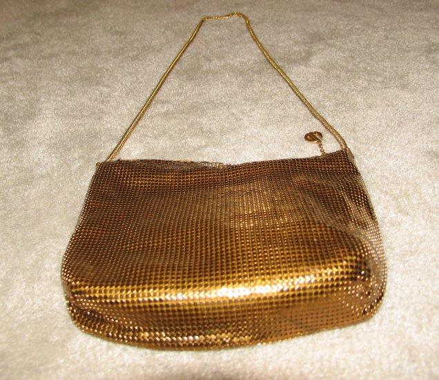 Ladies Vintage late 70's Gold Metallic Evening Purse