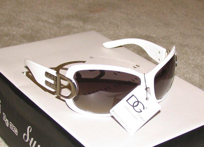 New 2015 DG44 White, Silver Fashion Sunglasses