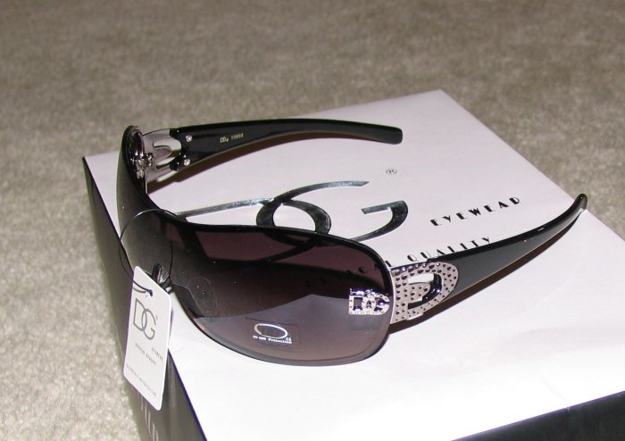 New 2010 DG108 Black, Silver Fashion Sunglasses
