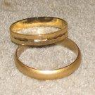 Vintage Costume Jewelry 2 Goldtone Bangle Bracelets - small lot