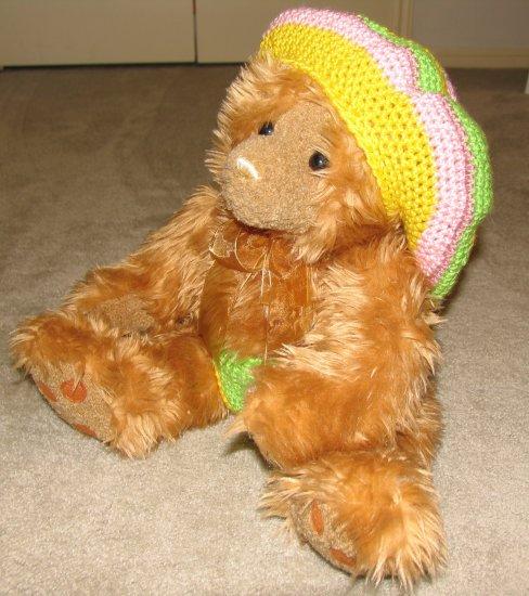 "Plush Honey 20"" Teddy Bear w Custom Crocheted Outfit"