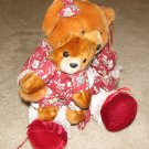 "Plush Brown 18"" Teddy Bear w Cub"
