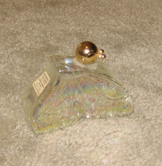 """Vintage 1970's Glass 3 1/2"""" Butterfly Collectible Avon Bottle"""