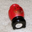 "Vintage 1970's Red/Gold Glass 3 1/2"" Egg Collectible Avon Bottle"